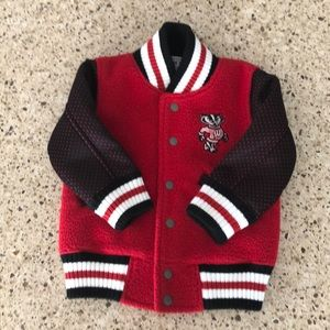 Other - Wisconsin Badgers toddler varsity jacket